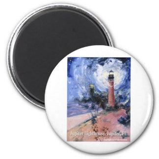Jupiter lighthouse refrigerator magnet
