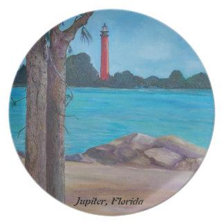 Jupiter Lighthouse Party Plate
