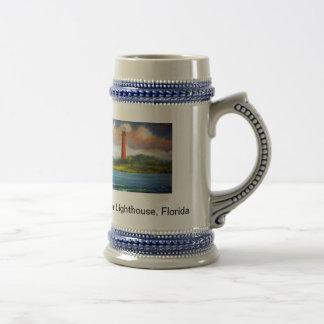 Jupiter Lighthouse Stein Coffee Mug