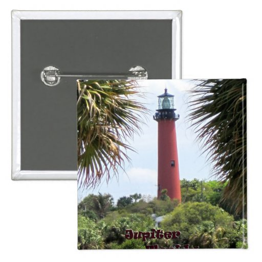 Jupiter Lighthouse through the Palms Buttons