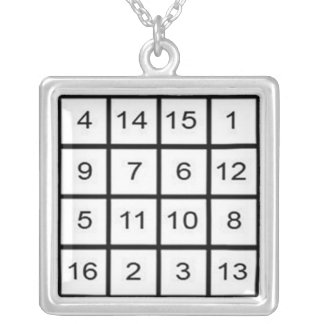 Jupiter Magic Square Necklace/Pendant Silver Plated Necklace