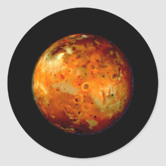 Jupiter Moon Io Space NASA Classic Round Sticker