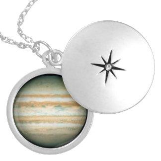 Jupiter Round Locket Necklace