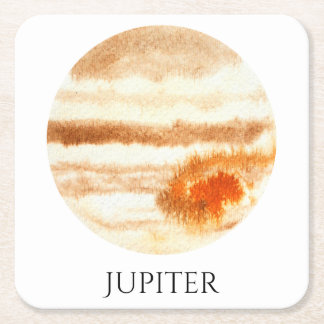 Jupiter Planet Watercolor Coaster