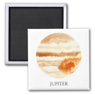 Jupiter Planet Watercolor Magnet