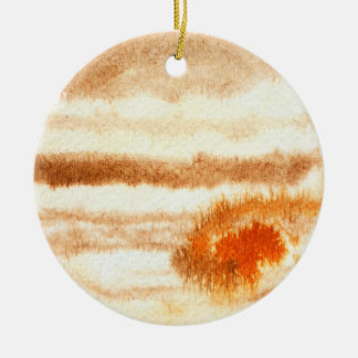 Jupiter Planet Watercolor Ornament