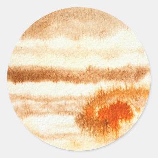 Jupiter Planet Watercolor Sticker