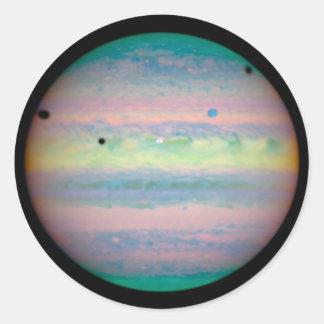 Jupiter Round Sticker
