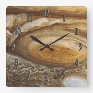 Jupiter Storm Square Wall Clock
