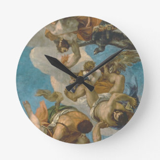 Jupiter Striking Down the Vices (oil on canvas) Clocks