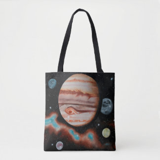 Jupiter with Galilean Moons - Tote Bag