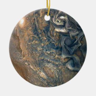 Jupiter's Clouds Ceramic Ornament