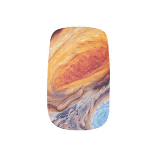 Jupiter's Great Red Spot Nail Stickers