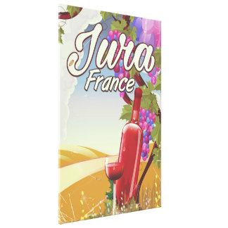 Jura France vineyard travel poster Canvas Print