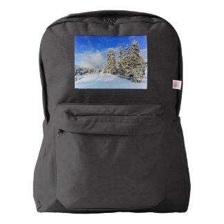 Jura mountain in winter, Switzerland Backpack