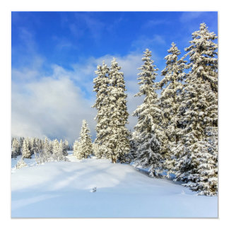 Jura mountain in winter, Switzerland Card
