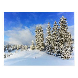 Jura mountain in winter, Switzerland Postcard
