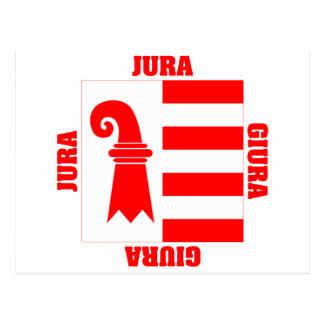 Jura Switzerland Canton Flag Postcard