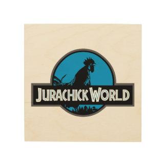 Jurachick World Color Wooden Sign
