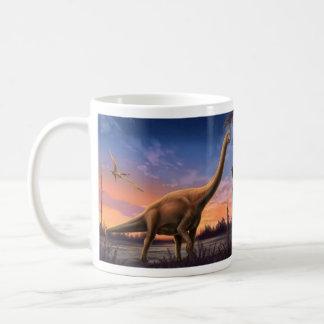 Jurassic Dinosaurs Basic White Mug