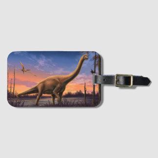 Jurassic Dinosaurs Luggage Tag