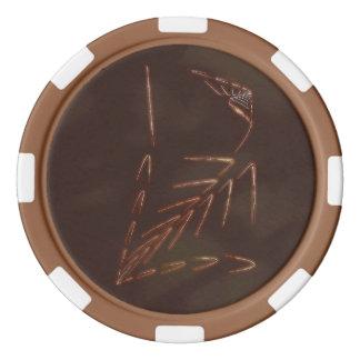 Jurassic Fossil Poker Chips