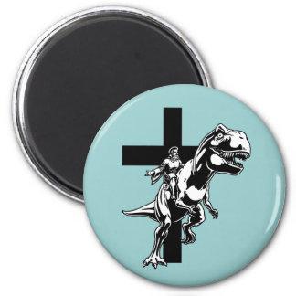 Jurassic Jesus 6 Cm Round Magnet