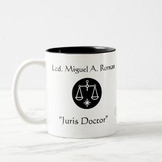 """Juris Doctor""Thanks-Customize Two-Tone Mug"