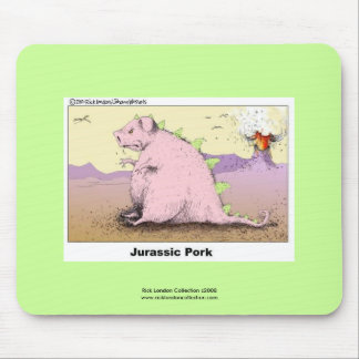 Jurrasic Pork Hilarious Cartoon Quality Mouse Pad