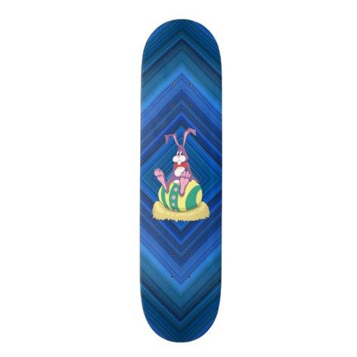 Jus Chillin' Easter Bunny on decorated egg Custom Skateboard