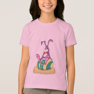Jus Chillin' Easter Bunny on decorated egg T-Shirt