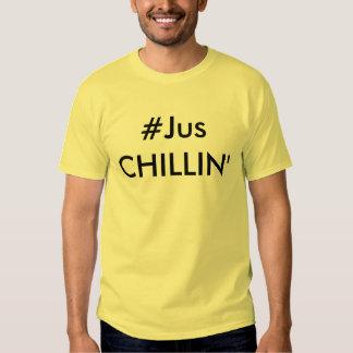 #JUS CHILLIN' Men's Daffodil Yellow Tee Shirt