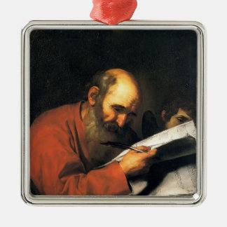 Jusepe de Ribera- St. Matthew with the angel Christmas Ornaments