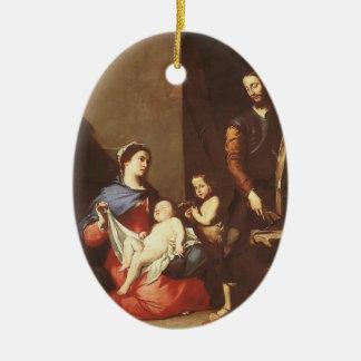 Jusepe de Ribera- The Holy Family Christmas Tree Ornament