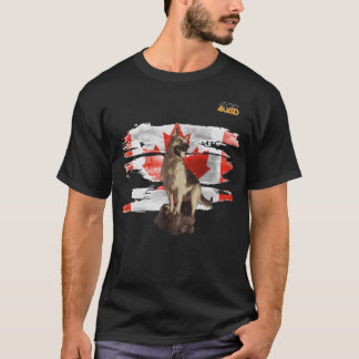 Just4GSD German Shepherd guarding the Canada flag T-Shirt