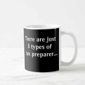 Just 3 Types of Tax Preparer Basic White Mug