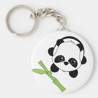 Just a Bite of Bamboo Key Ring
