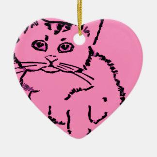 just a cat ceramic heart decoration