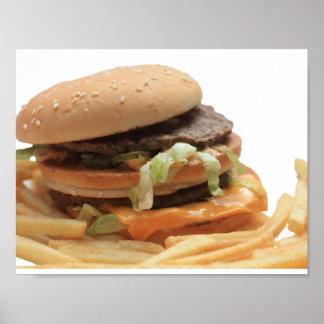 Just a classic hamburger poster