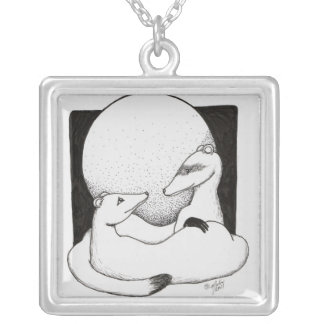Just A Cuddle Silver Plated Necklace