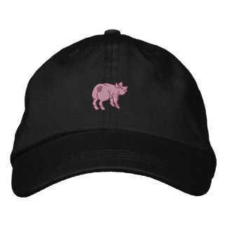 Just A Cute Little Pig Embroidered Cap