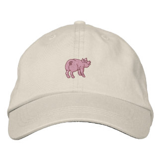 Just A Cute Little Pig Embroidered Hat