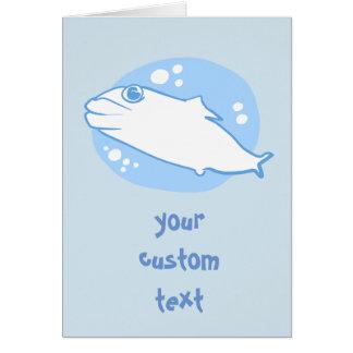 just a fish simple and beatiful cartoon card