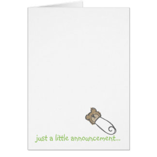 just a little announcement... card