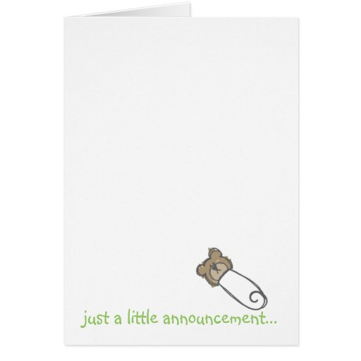 just a little announcement... greeting cards