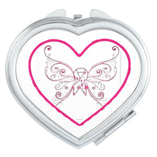just a little bit of heart compact mirrors
