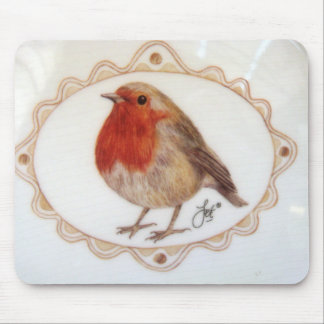 Just A Little Robin Redbreast Mouse Pad