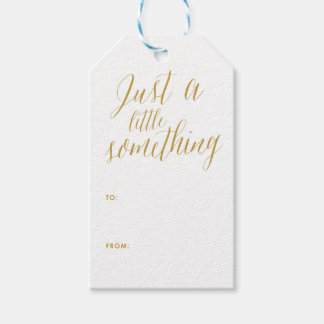 Just a Little Something | Calligraphy Gift Tag