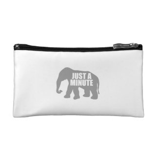 Just a minute. Grey Elephant Cosmetic Bag