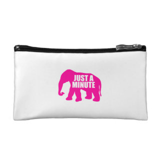 Just a minute. Pink Elephant Cosmetic Bag